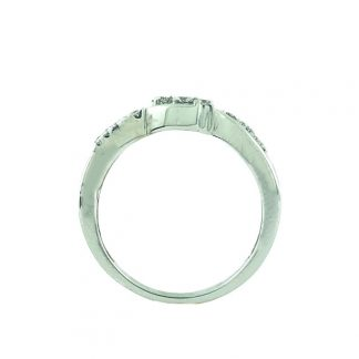 "10K WHITE GOLD ENGAGEMENT RING| 2.5G| SIZE 7"""