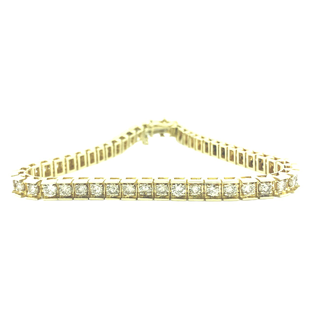 "DIAMOND BRACECLET 14K YELLOW GOLD| 4.00CT TDW| SIZE 7"""