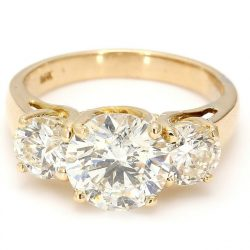 14K DIAMOND ENGAGEMENT RING| 4.3G| 2.08CT(C)| 3.08CT TDW| SIZE 5""
