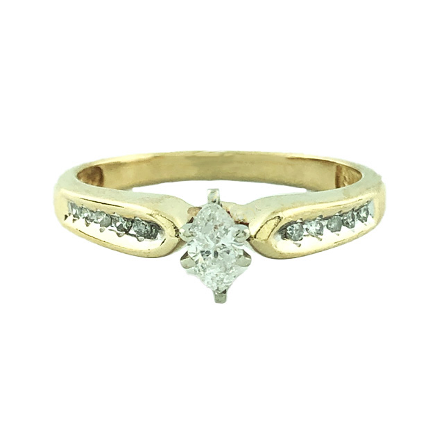 14K YELLOW GOLD ENGAGEMENT RING| 2.9G| SIZE 7""