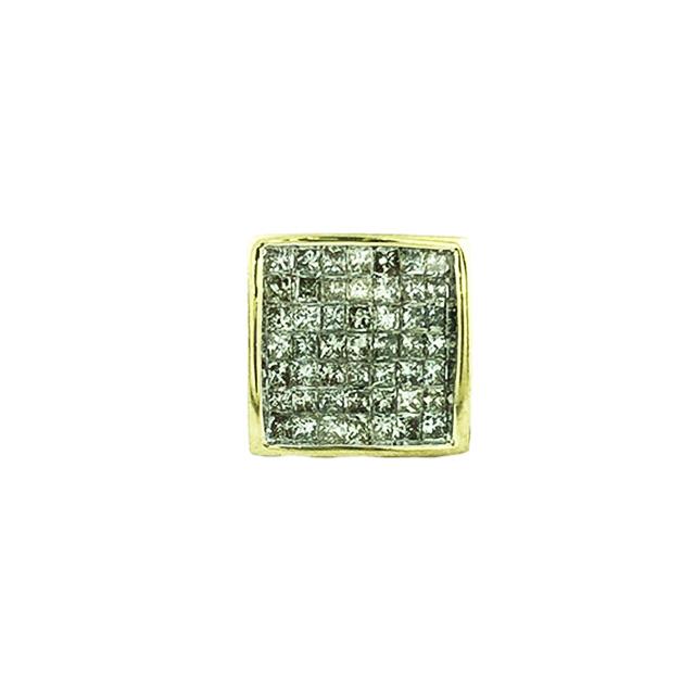 DIAMOND EARRING STUD-10K YELLOW GOLD  1.00CT TDW  1.5G