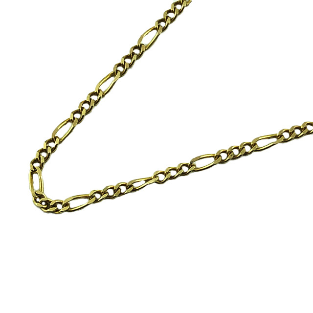 14K YELLOW GOLD FIGARO LINK NECKLACE| 2.3G| LENGTH 20""