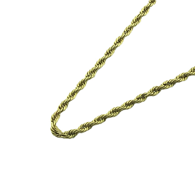 """10K YELLOW GOLD ROPE NECKLACE