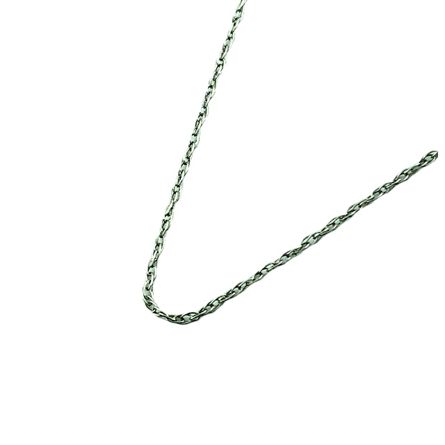 14K WHITE GOLD NECKLACE| 0.5G| LENGTH 18""