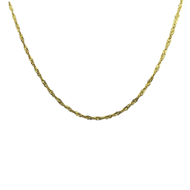 14K YELLOW GOLD ITALIAN CUT NECKLACE| 18""