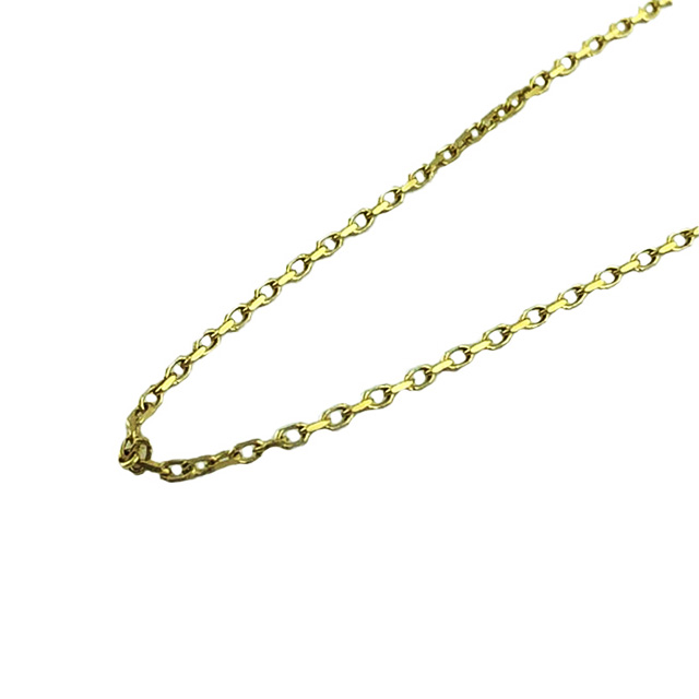 """14K YELLOW GOLD CABLE LINK NECKLACE