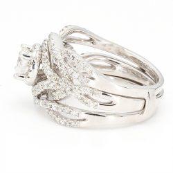 "DIAMOND BRIDAL SET-14K WHITE GOLD| 0.50CT CENTER| 2.00CT TDW| SIZE 5.50"""