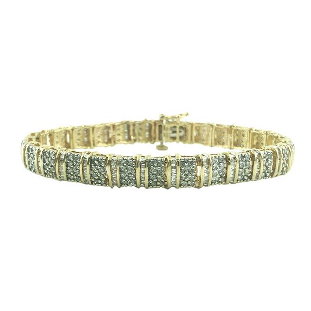 "DIAMOND BRACELET-10K YELLOW GOLD| 18.3G| 3.00CT TDW| LENGTH 7"""