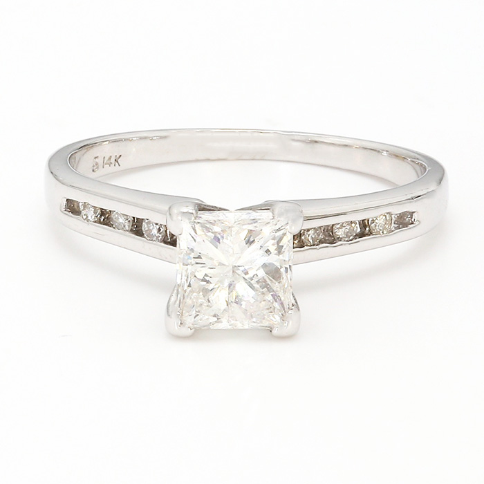 SOLITAIRE DIAMOND ENGAGEMENT RING| 1.00 CT TDW| SIZE 6.25""