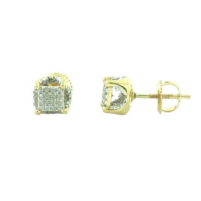 10K YELLOW GOLD DIAMOND EARRING STUDS| 1.8G