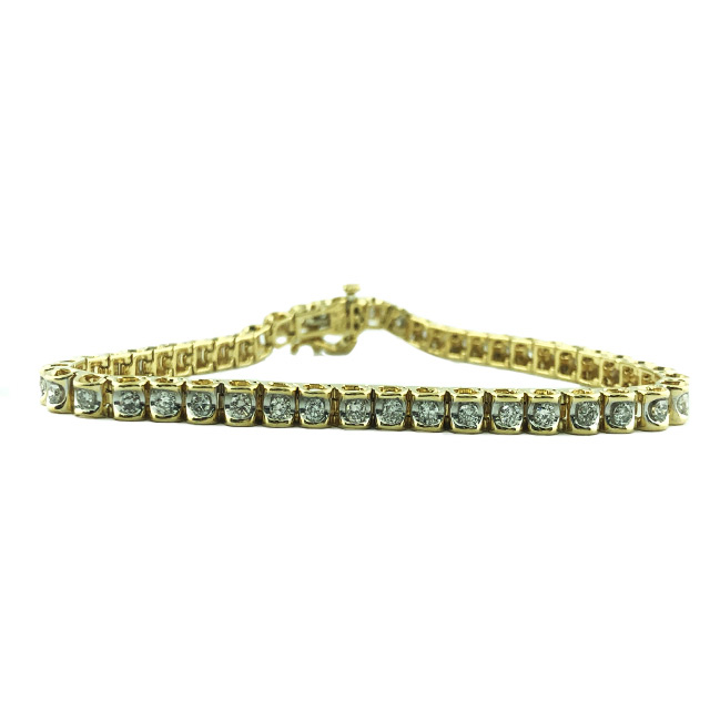 DIAMOND BRACELET 14K YELLOW GOLD- 11.3G- 1.50CT TDW-LENGTH-7.25""