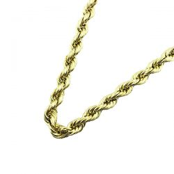 ROPE NECKLACE AND JESUS PENDANT-10K YELLOW GOLD| 48.5G| LENGTH 26""