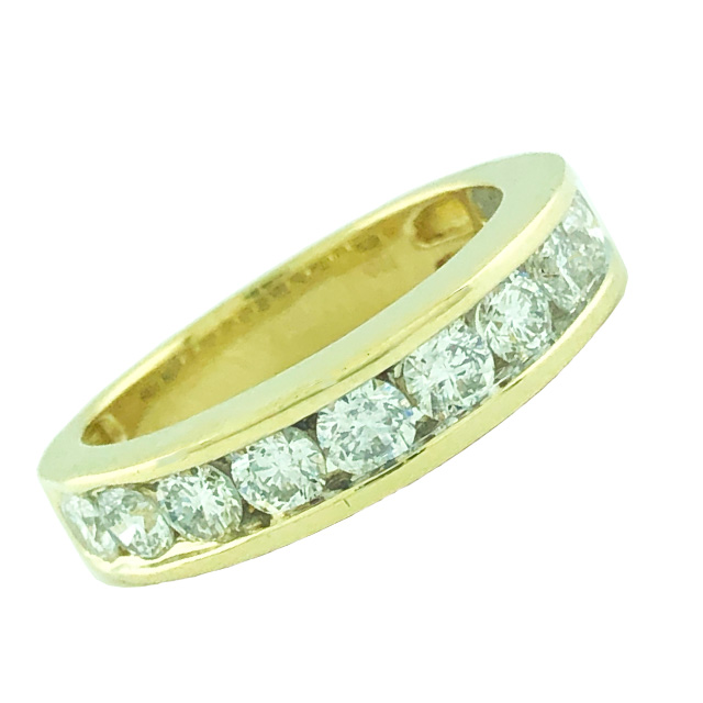 14K YELLOW GOLD BAND| 1.00CT TDW| SIZE 7""