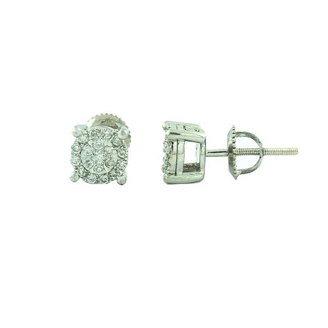 DIAMOND EARRING STUDS-10K WHITE GOLD| 0.50CT TDW| 1.7 GRAMS WEIGHT