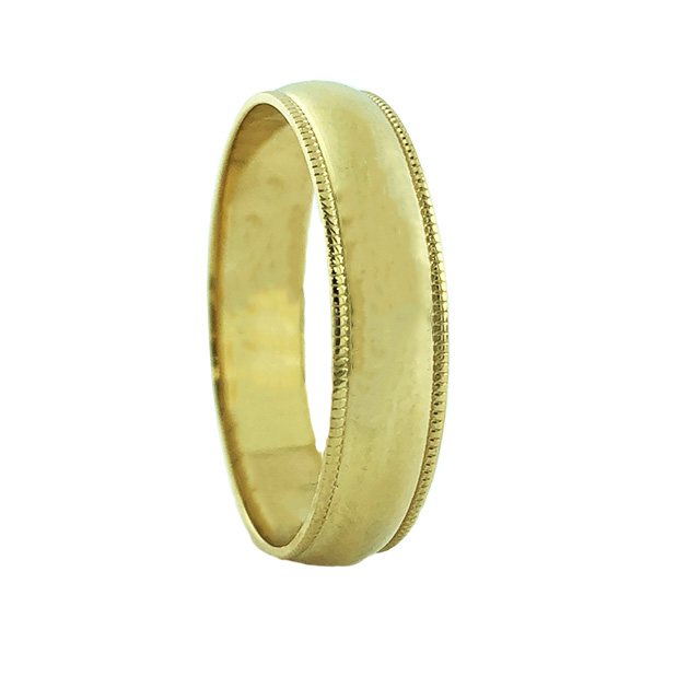 """14K YELLOW GOLD MENS BAND