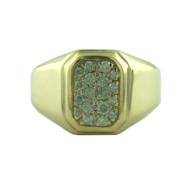 """14K YELLOW GOLD MENS RING