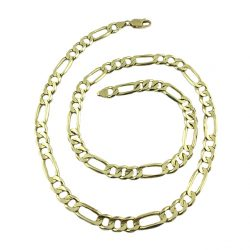 14K YELLOW GOLD FIGARO CHIAN| 61.7 GRAMS WEIGHT| 8.50 MM WIDE| 24 INCHES LONG