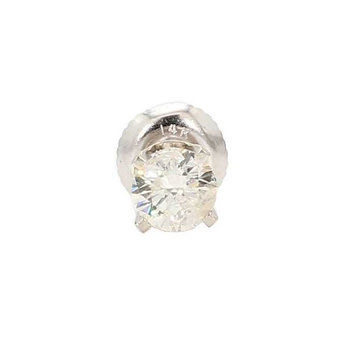 SOLITAIRE  DIAMOND EARRING STUD  0.45CT TDW  0.6 GRAMS WEIGHT