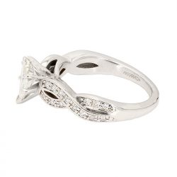 "SOLITAIRE DIAMOND BRIDAL SET- 14K WHITE GOLD| 0.704CT(C) PEAR SHAPE DIAMOND|0.96CT TDW| SIZE 6.5"""