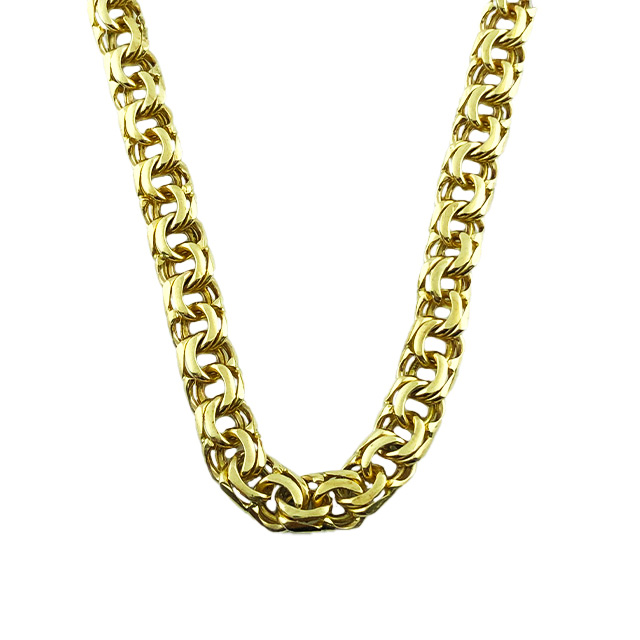 10K YELLOW GOLD CHIAN  49.2 GRAMS WEIGHT  6.25 MM WIDE  28 INCHES LONG