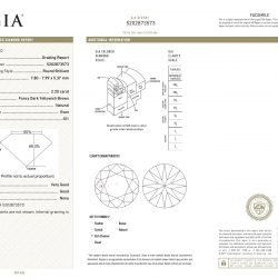 2.02 CARAT ROUND DIAMOND- GIA CERTIFIED| NATURAL, COLOR- FANCY DARK YELLOWISH BROWN | CLARITY- SI1