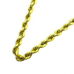 10K YELLOW GOLD SOLID ROPE CHAIN| 59.6 GRAMS WEIGHT| 5.38 MM WIDE| 24 INCHES LONG