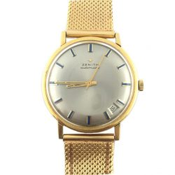 ZENITH 18K SOLID YELLOW GOLD AUTOMATIC WATCH