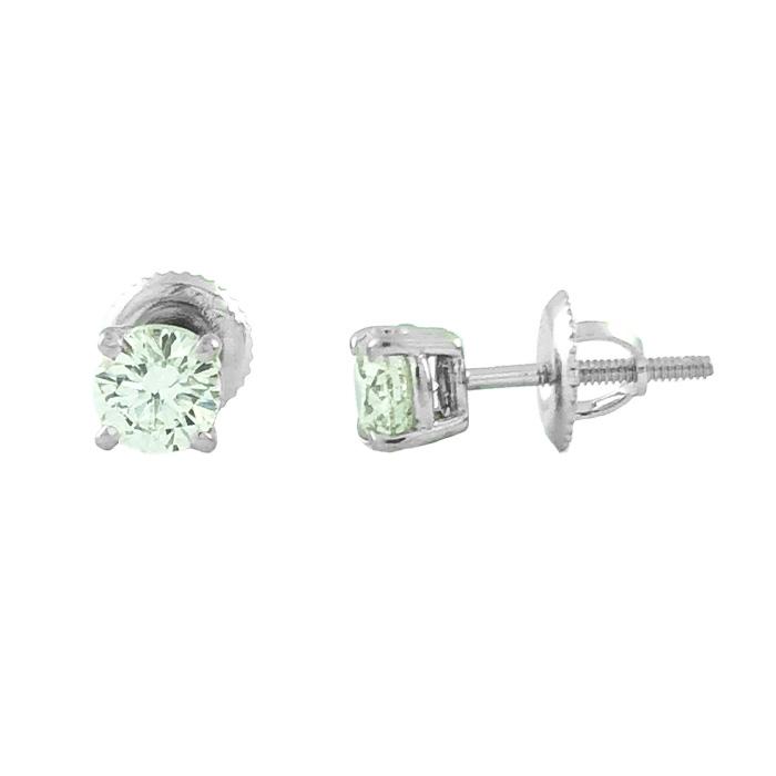 DIAMOND EARRING STUDS- 14K WHITE GOLD| 1.3G| 1.00CT TDW