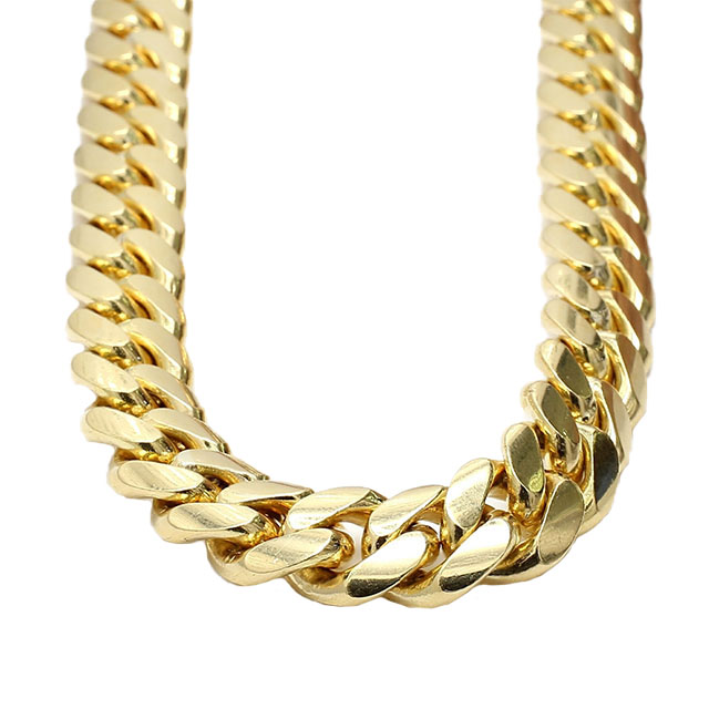 """18K YELLOW GOLD CUBAN LINK CHAIN NECKLACE