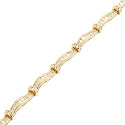 "DIAMOND BRACELET- 14K YELLOW GOLD| 10.8G| 1.50CT TDW| LENGTH 7"""