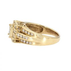 "DIAMOND ENGAGEMENT RING| 10K YELLOW GOLD| 4.6G| 0.75CT TDW| SIZE 7"""