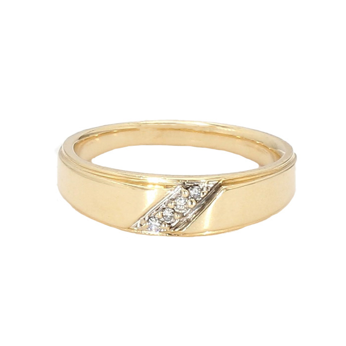 MENS WEDDING BAND| 14K YELLOW GOLD| 7.0G| SIZE 10.25""