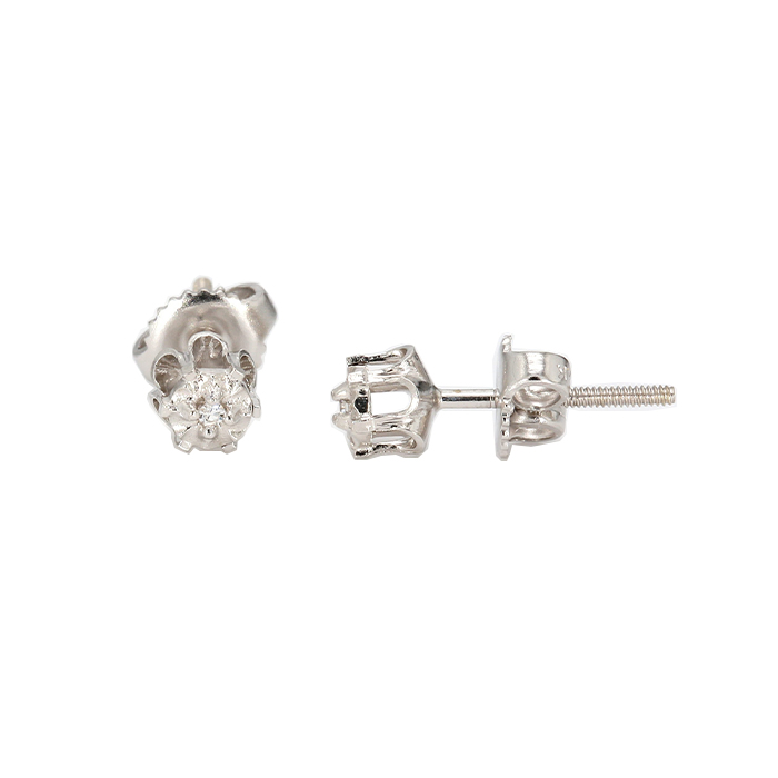 DIAMOND EARRING STUDS- 14K WHITE GOLD