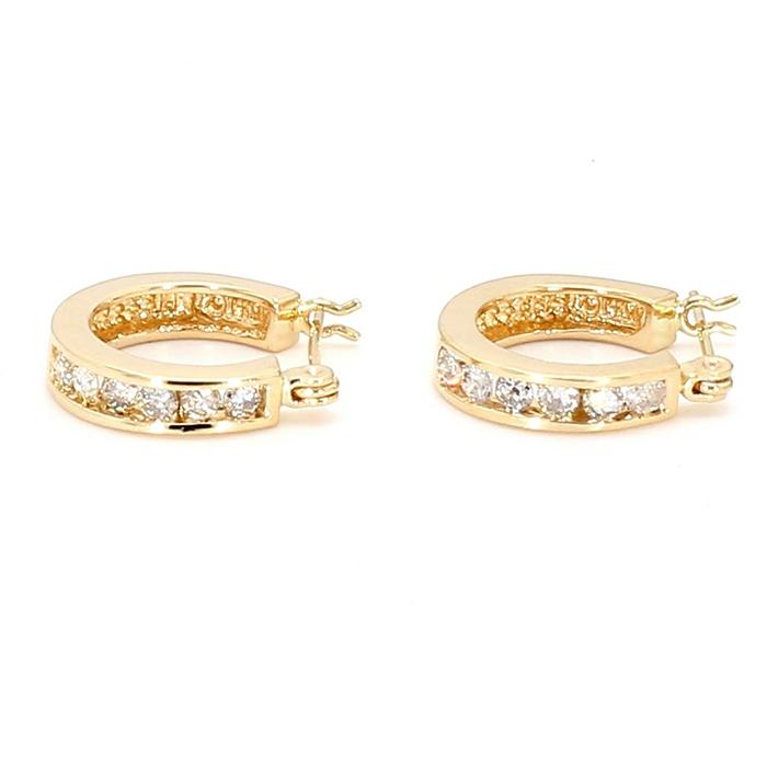 DIAMOND EARRING HOOPS- 14K YELLOW GOLD| 0.30CT TDW