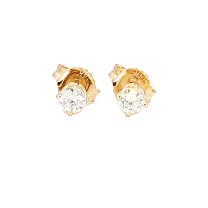 DIAMOND EARRING STUDS- 14K YELLOW GOLD| 0.25CT TDW