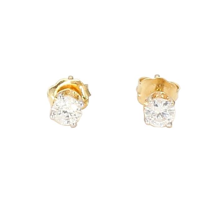 DIAMOND EARRING STUDS- 14K YELLOW GOLD| 0.30CT TDW