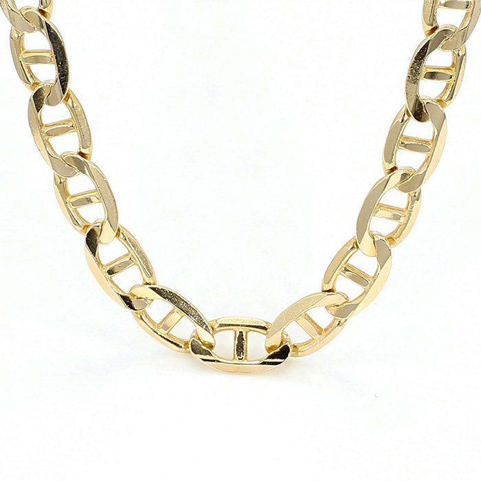 SOLID MARINER CHAIN NECKLACE- 14K YELLOW GOLD| 39.1G| LENGTH 21""