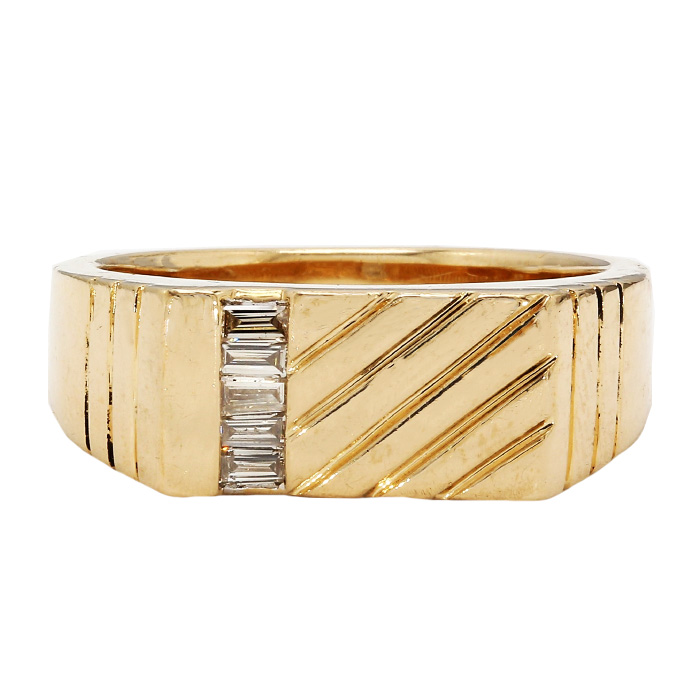 """MENS BAND- 14K YELLOW GOLD