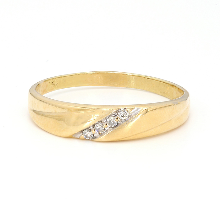 MENS DIAMOND BAND- 10K| 3.2G| SIZE 12.50""