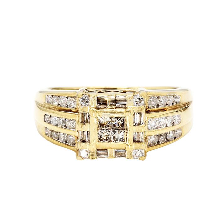 "MENS DIAMOND RING- 10K YELLOW GOLD| 4.7G| 0.75CT TDW| SIZE 8.25"""