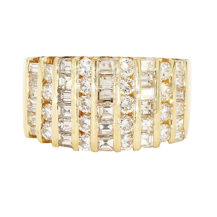 "DIAMOND BAND- 18K YELLOW GOLD| 8.8G| 2.50CT TDW| SIZE 9.50"""