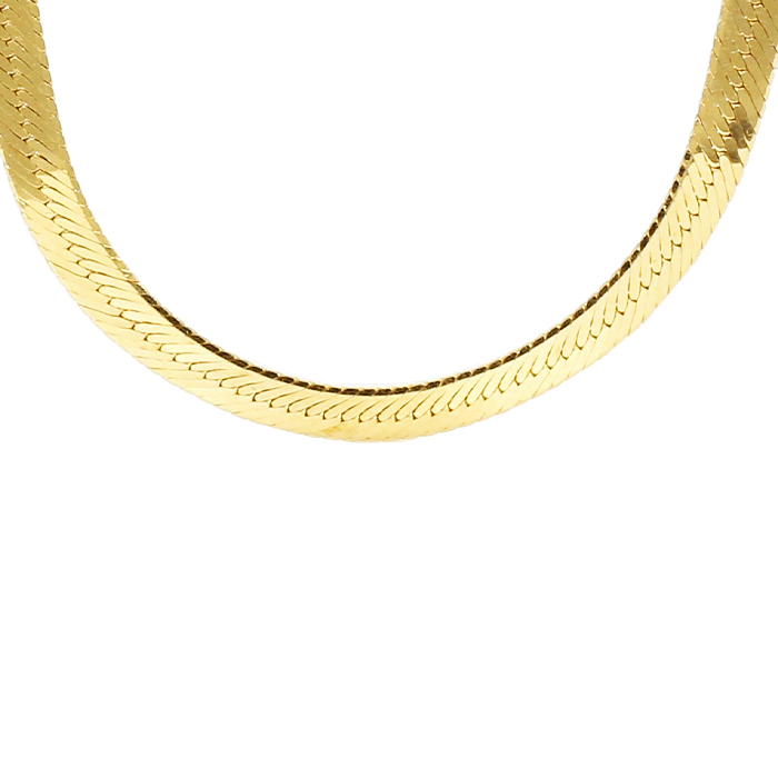 4.14mm SOLID HERRINGBONE CHAIN NECKLACE - 14K Gold| LENGTH 24""
