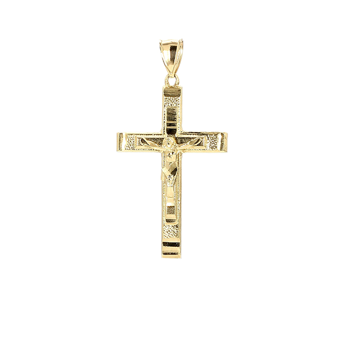 CROSS PENDANT- 10K YELLOW GOLD| 3.3G