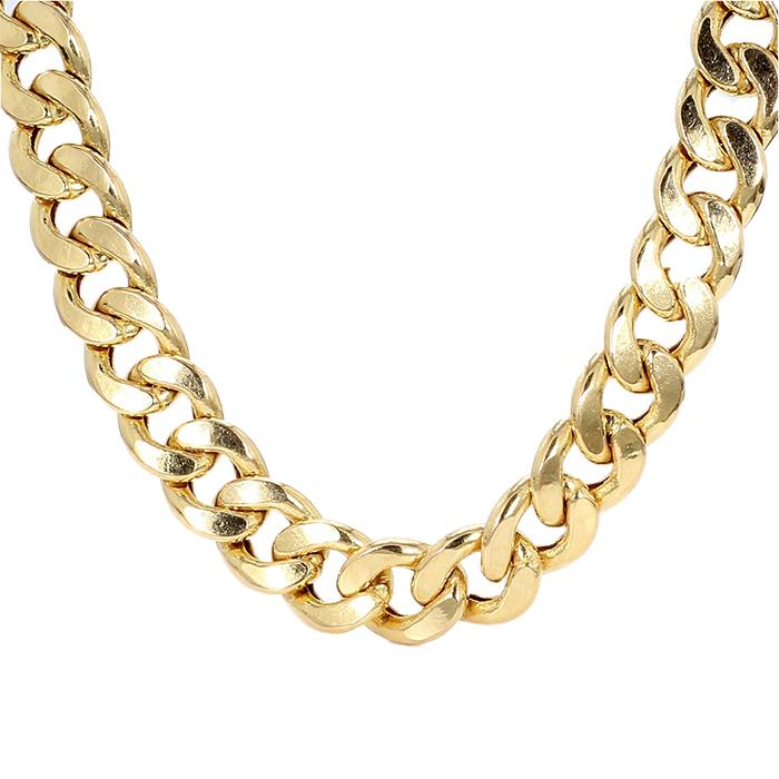"CUBAN LINK NECKLACE- 10K YELLOW GOLD| 38G| LENGTH 24""| WIDTH 9.50MM"