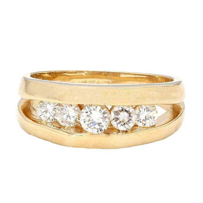 "MENS DIAMOND BAND- 14K YELLOW GOLD| 8.0G| 1.30CT TDW| SIZE 8.50"""