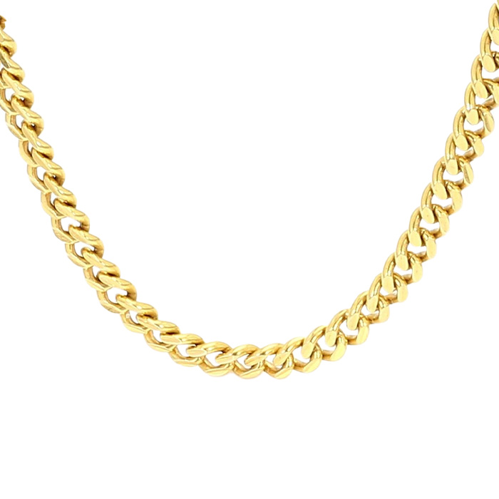 """CURB NECKLACE- 18K YELLOW GOLD