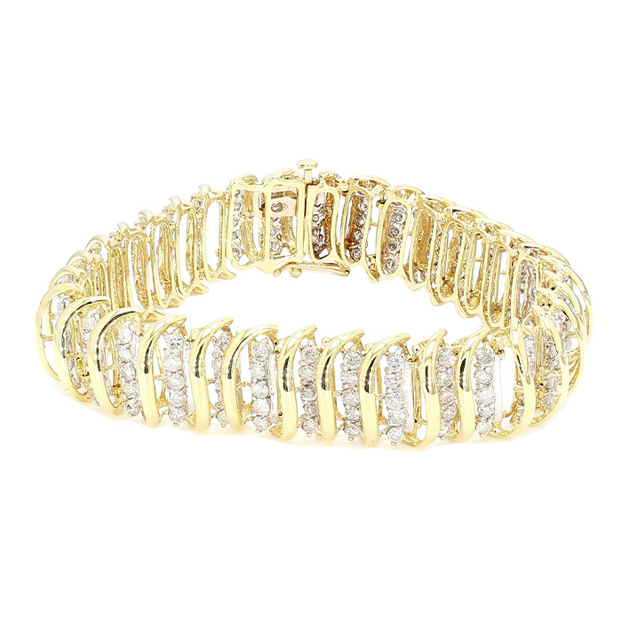 DIAMOND BRACELET- 14K YELLOW GOLD| 23.2G |5.00CT TDW| LENGTH 7""