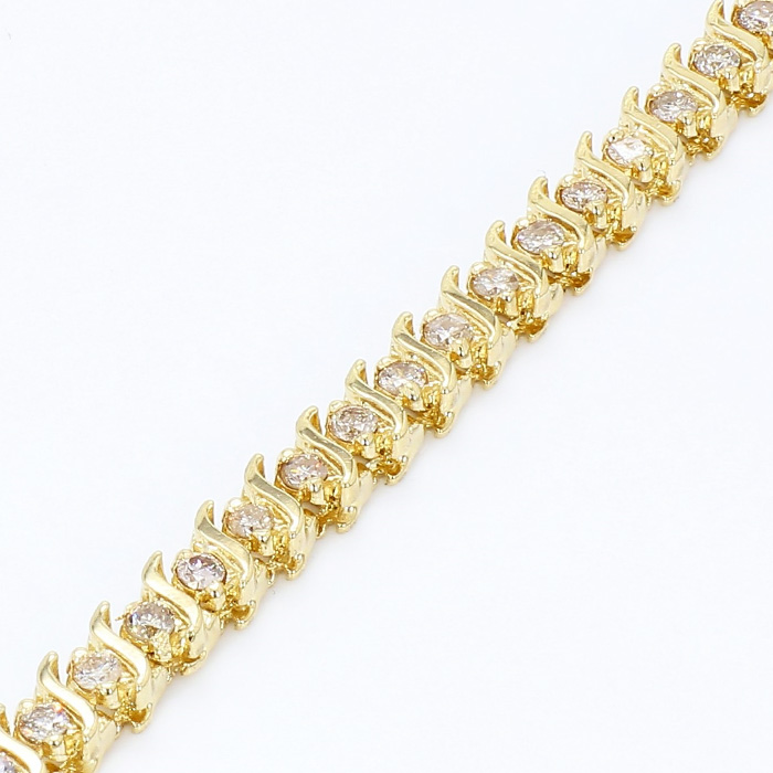 DIAMOND BRACELET- 14K YELLOW GOLD| 13.8G| 2.00CT TDW| LENGTH 7""