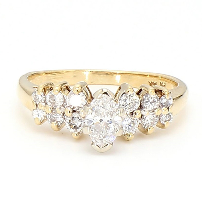 DIAMOND BAND- 14K YELLOW GOLD| 2.6G| 0.50CT TDW| SIZE 4.50""