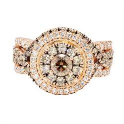 """DIAMOND BRIDAL SET- 14K ROSE GOLD  8.0G  2.00CT TDW  SIZE 6.75"""""""
